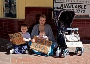 Бездомные дети в США.